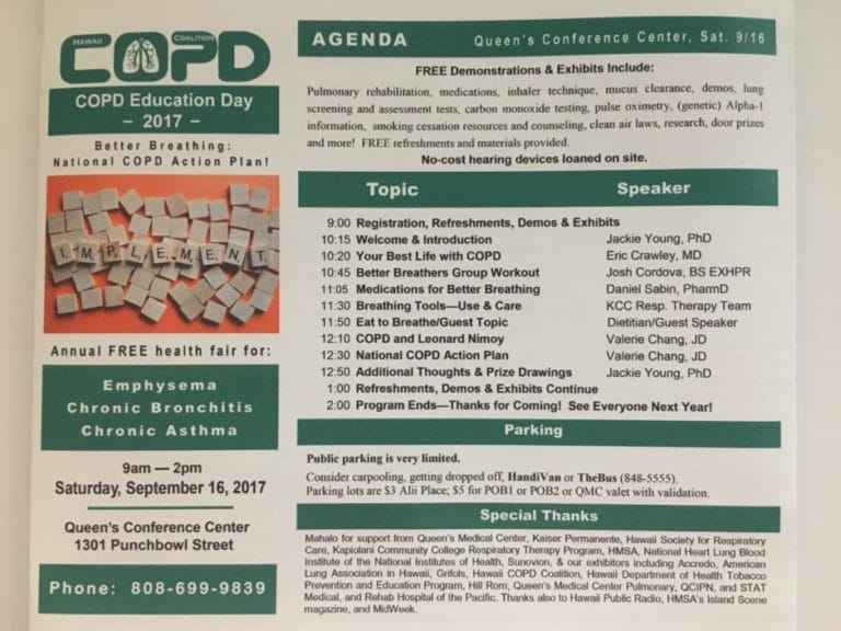 Hawaii COPD Coalition Education Day 2017